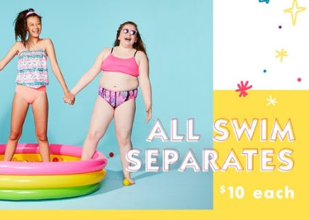 All Swim Separates $10 Each from Justice