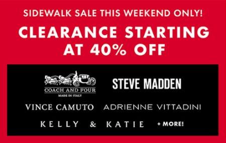 Sidewalk Sale from DSW Shoes