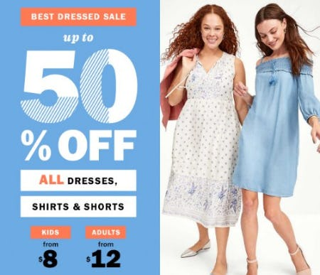 Best Dressed Sale up to 50% Off from Old Navy