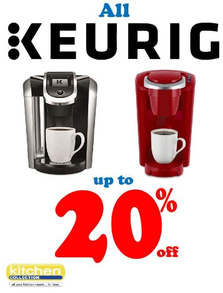 Keurig 20% off Sale from Kitchen Collection