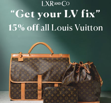 15% Off All Louis Vuitton from Stein Mart