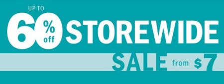 Up to 60% Off Storewide