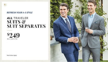 All Traveler Suits & Suit Separates $249 from Jos. A. Bank