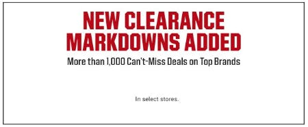 New Clearance Markdowns Added from Dick's Sporting Goods