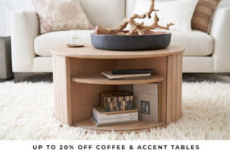 Up to 20% Off Coffee & Accent Tables from Pottery Barn