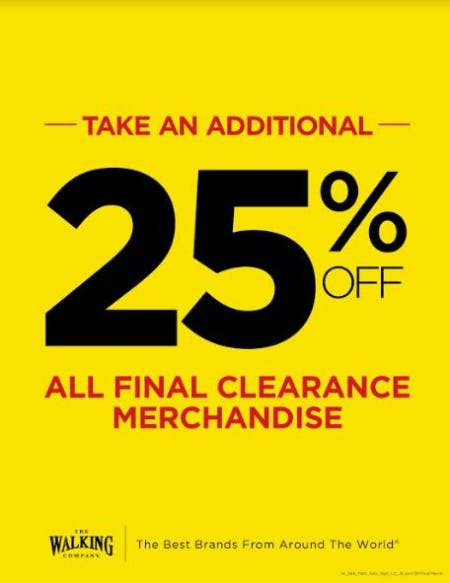 Additional 25% off Sale/Clearance from THE WALKING COMPANY
