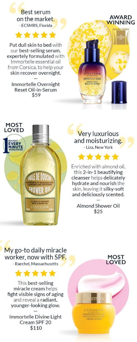 Discover the Best of L'occitane from L'Occitane