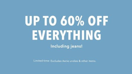 Up to 60% Off Everything from American Eagle Outfitters