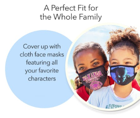 Disney Cloth Face Masks from Disney Store