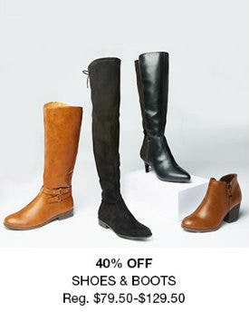 40% Off Shoes & Boots from macy's