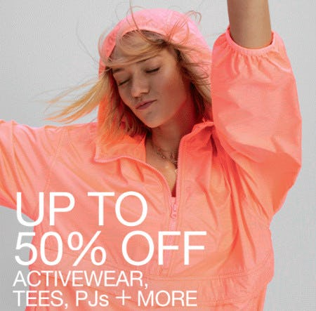 Up to 50% Off Activewear, Tees, PJs & More from Gap
