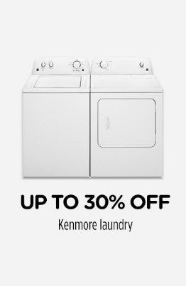 Up to 30% Off Kenmore Laundry from Sears