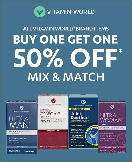 Buy One Get One 50% off Mix and Match