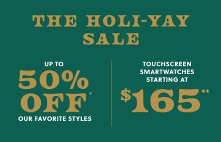 The Holi-Yay Sale from Fossil