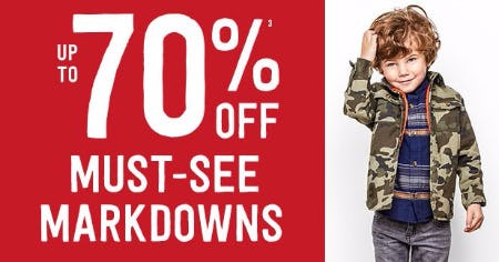Up to 70% Off Must-See Markdowns
