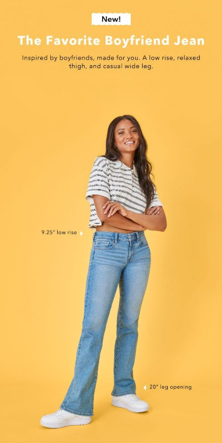 Just Dropped: The Favorite Boyfriend Jean from American Eagle Outfitters
