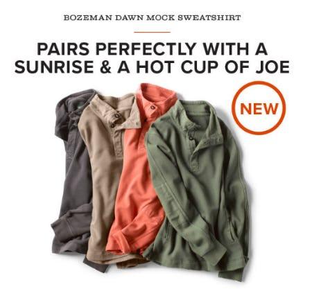 The Bozeman Dawn Mock Sweatshirt from Orvis