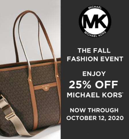 25% Off Michael Kors from Belk