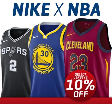 10% Off Select Jerseys