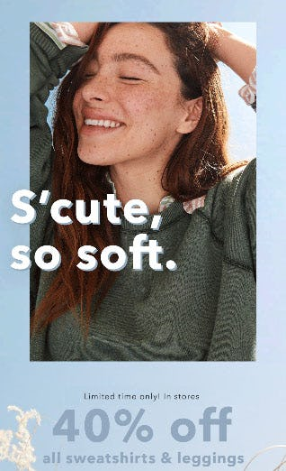 40% Off All Sweatshirts & Leggings from OFFL/NE by Aerie