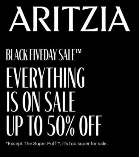 Black Fiveday Sale from Aritzia