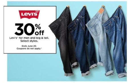 30% Off Levi's for Men and Big and Tall from Kohl's