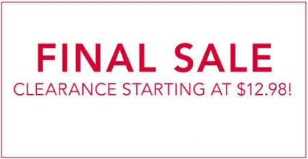 Clearance Starting at $12.98 from Lane Bryant