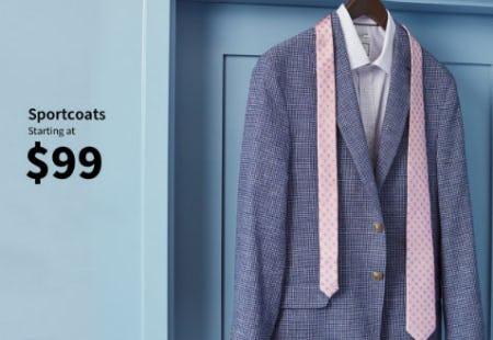Sportcoats Starting at $99 from Jos. A. Bank