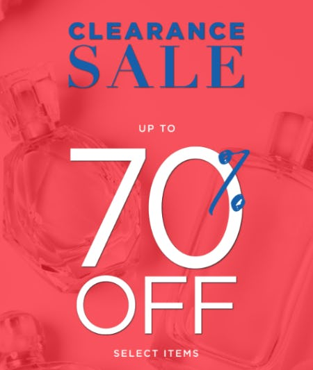 Clearance Sale Up to 70% Off from Perfumania