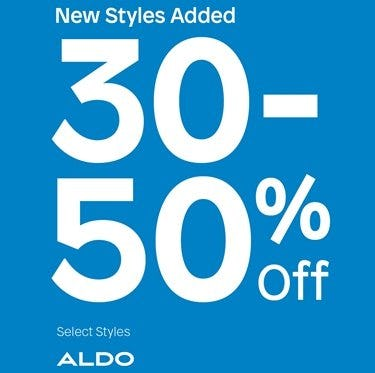 30 to 50% Off Sale Styles from ALDO etc