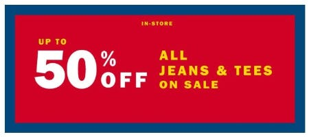 Up to 50% Off All Jeans and Tees on Sale from Old Navy