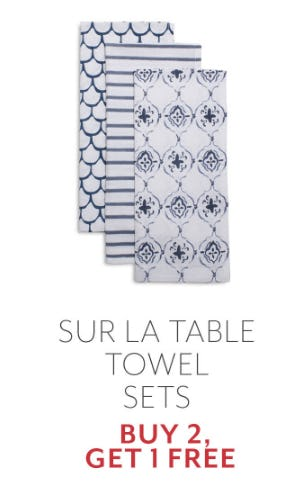 Buy 2, Get 1 Free Sur La Table Towel Sets from Sur La Table