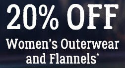 Women's Outerwear and Flannels 20% Off from Boot Barn Western And Work Wear
