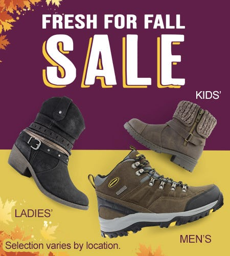 Fresh for Fall Sale! from Shoe Show