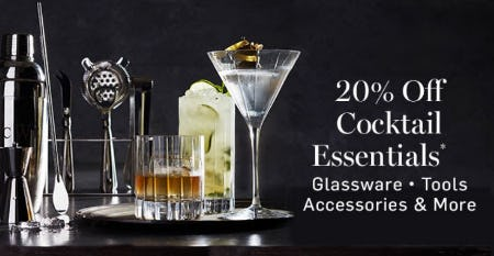 20% Off Cocktail Essentials from Williams-Sonoma