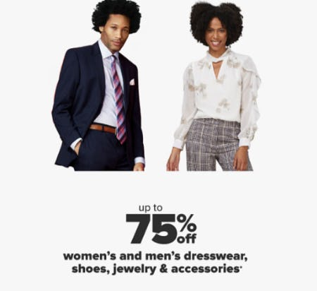 Up to 75% Off Women's and Men's Dresswear, Shoes, Jewelry & Accessories from Belk
