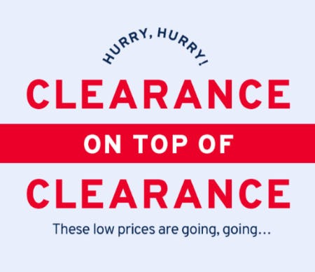 Clearance on Top of Clearance from Marshalls