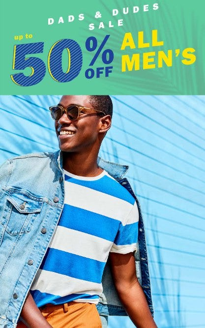 Up to 50% Off All Men's from Old Navy