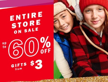 Entire Store on Sale up to 60% Off from Old Navy