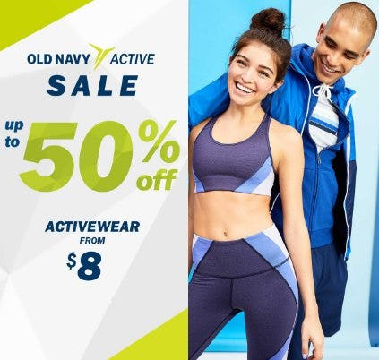 Up to 50% Off Activewear from Old Navy