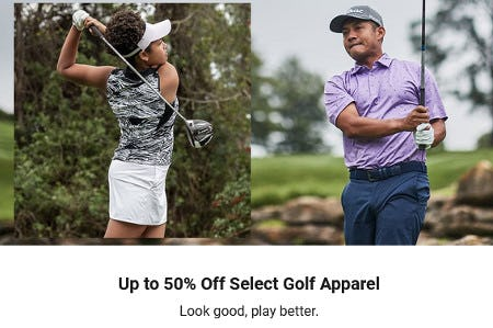 Up to 50% Off Select Golf Apparel from Dick's Sporting Goods