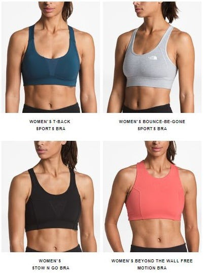 Supportive Sports Bras from The North Face