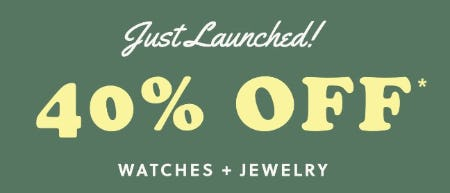 40% Off Watches & Jewelry from Fossil
