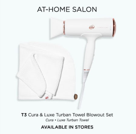 T3 Cura & Luxe Turban Towel Blowout Set