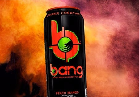The New Bang Peach Mango Energy Drink
