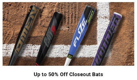 Up to 50% Off Closeout Bats from Dick's Sporting Goods