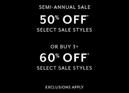 Semi-Annual Sale from White House Black Market