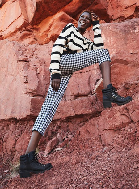 Classic Combat Boots with A Twist