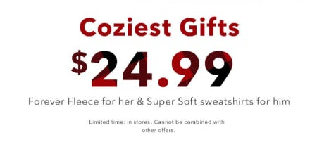 $24.99 Coziest Gifts from American Eagle Outfitters