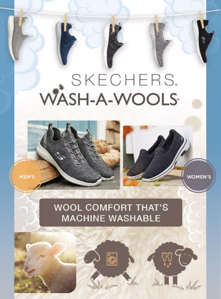 Skechers Wash-A-Wools Collection from Skechers